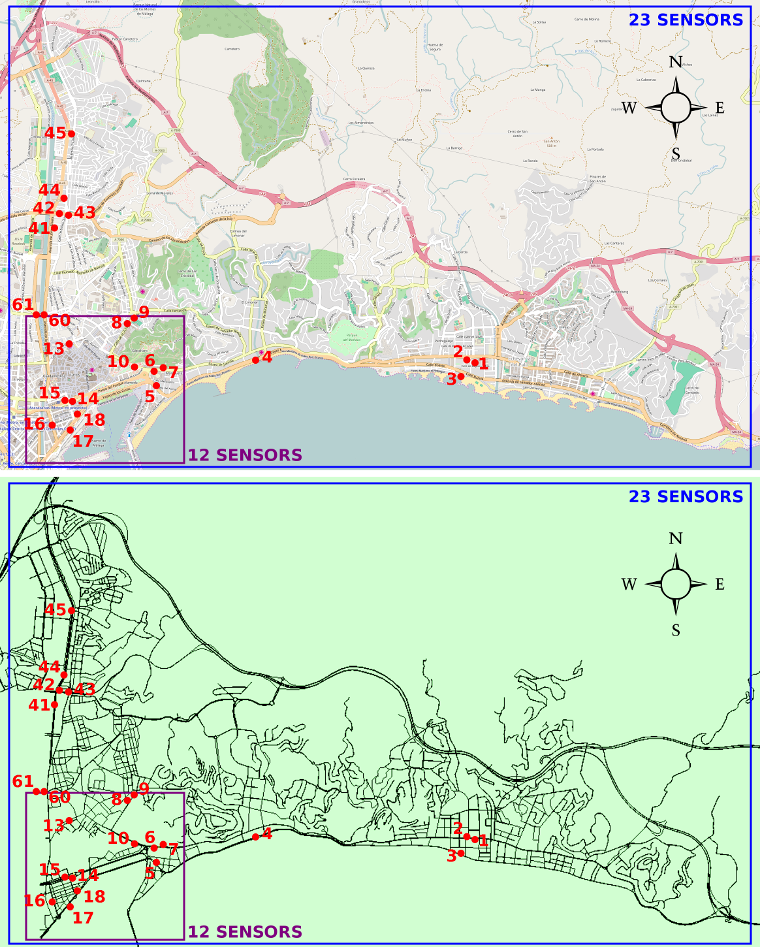 Two case studies in Malaga, Spain, imported from OpenStreetMap into SUMO